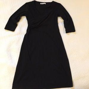 FIG Black Midi Dress